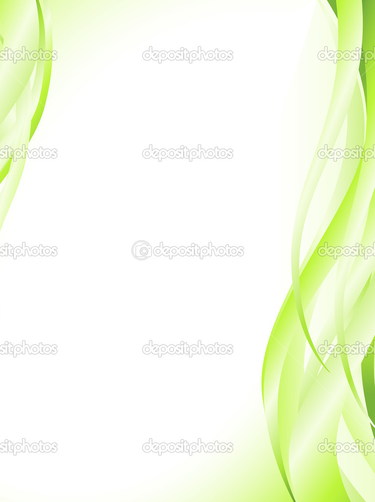 Illustration of abstract light green wavy frame — Stock Vector #2759185