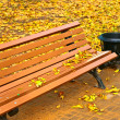 Autumn bench — Stockfoto