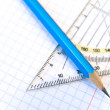 Triangle and pencil — Stock Photo