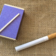 Matches and cigarette — Stock Photo