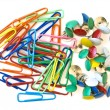 Pins and paper clips — Stock Photo