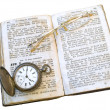 Foto de Stock  : Open book with glasses
