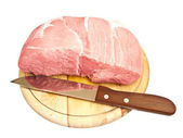 Meat on hardboard — Stock Photo