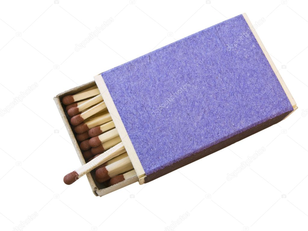 Isolated box of matches against the white background — Stock Photo #2795522