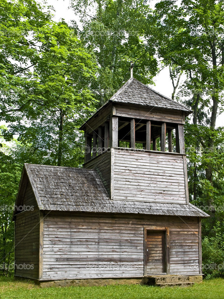 Old wooden chapel in the forest — Stock Photo #2796069