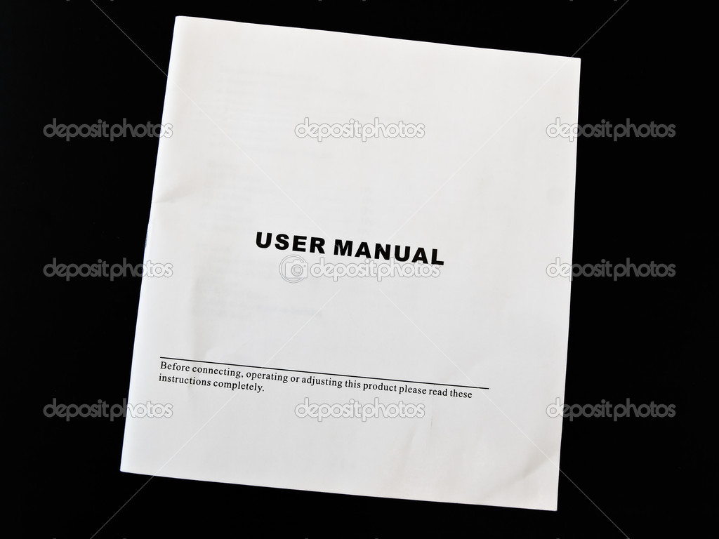 User manual guide brochure against the black background   Stock Photo #2796224