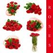 rozen set — Stockfoto