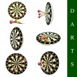 Darts set — Stockfoto
