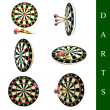 Darts set — Stock Photo