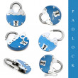 Padlock set - Stock Photo