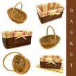 Stock Photo: Set of baskets