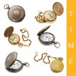Stock Photo: Pocket watch set