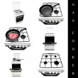 Gas cooker set - Foto Stock