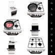 Gas cooker set - Stock Photo