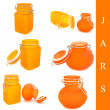 Set of jars - Stock Photo
