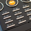 Stock Photo: Mobile phone buttons