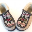 Knitted slippers - Stock Photo