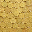 Rows of coins - Stock Photo
