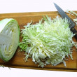 Stock Photo: Cabbage on breadboard