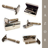 Razor set — Stock Photo