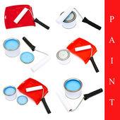 Conjunto de ferramentas de pintura — Foto Stock