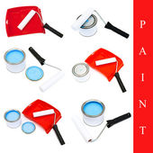 Set of paint tools — Stok fotoğraf