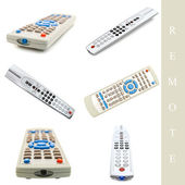 Set of remote controls — Stock Photo
