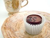 Saucer with chocolate — Stock Photo