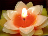 Flower candle — Stock Photo