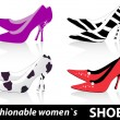Women`s shoes - Stock Vector