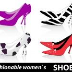 Women`s shoes — Stock Vector