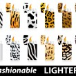 Fashionable lighters - Stock Vector