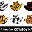 Cowboy hats - Stock Vector