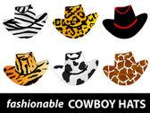 Cowboy hats — Stock Vector