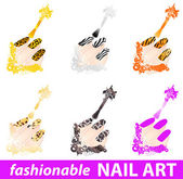 Nail art — Stock Vector
