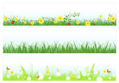 Grass web banners — Stock Vector