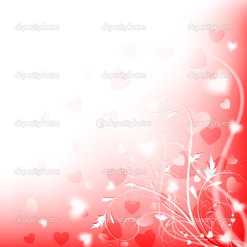 Abstract heart and floral shiny love background with copyspace, EPS10 — Stock Vector #3082041