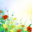 Summer flower meadow - Stock Vector