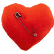 Stock Photo: Pierced heart