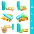 Stock Photo: Bath accessories