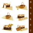 Set of different basket — Stock Photo #3262010