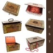 Royalty-Free Stock Photo: Set of old chests