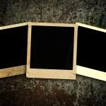 Old photo frames — Stock Photo