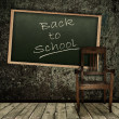 Grunge theme Back to school! — Stock Photo