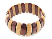 Wooden bracelet — Stock Photo