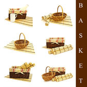 Set of different basket — Stock Photo