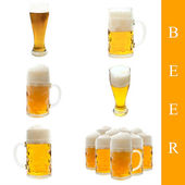 Beer set — Stock Photo