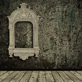 Grunge interior with vintage frame — Stock Photo