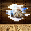 Castle in wall — Stock Photo