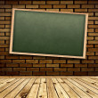 Blackboard in interior — Stock Photo